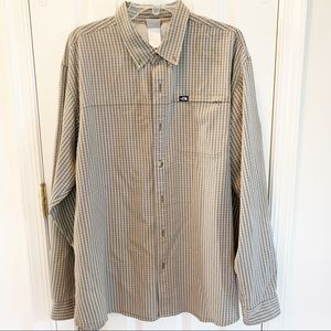 The North Face Olive Green Plaid Hiking Shirt XL